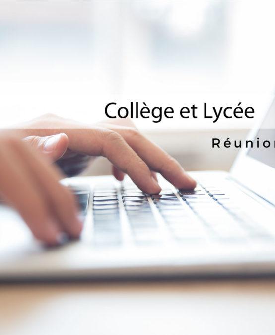 Réunion de rentrée (en ligne) Collège et lycée Vendredi 11 Septembre à 15h