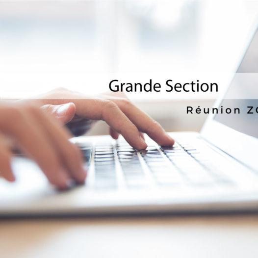 Réunion de rentrée (en ligne) Grande Section : Vendredi 11 Septembre à 18h00