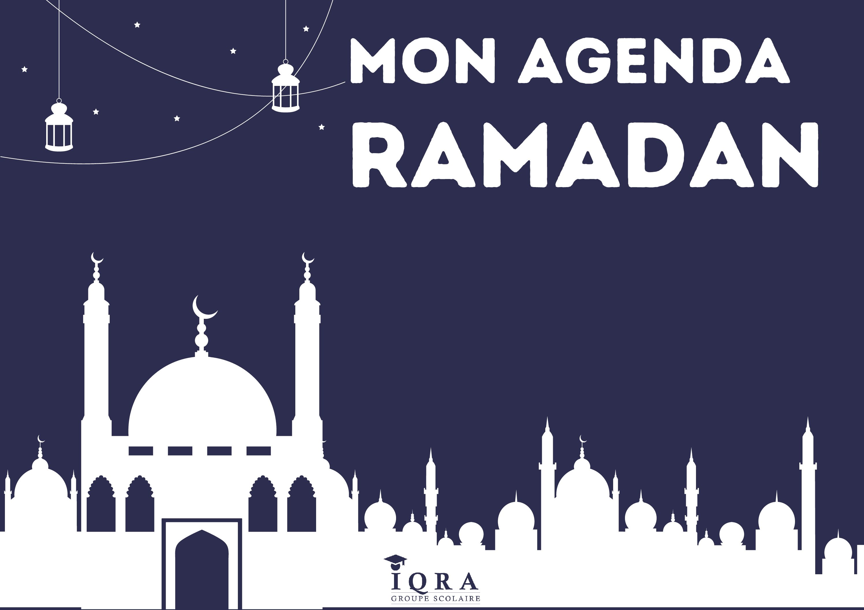 Agenda ramadan collégien